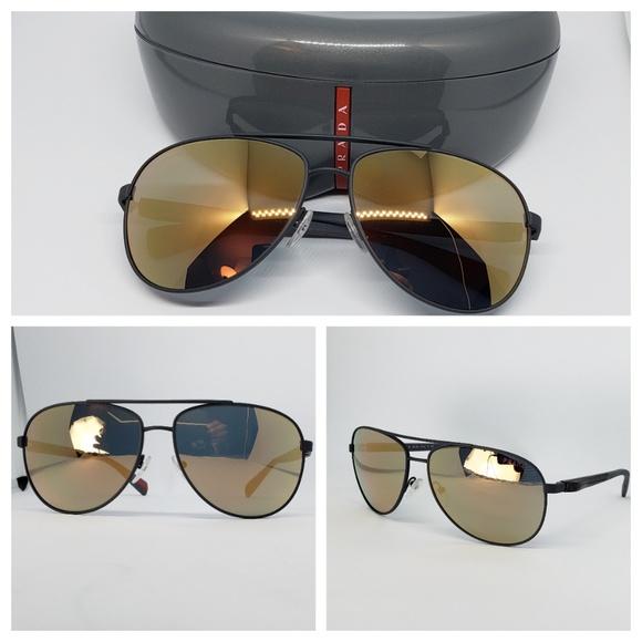 f39dfcfd6b40 Prada Accessories | Gold Mirror Aviator Sunglasses | Poshmark